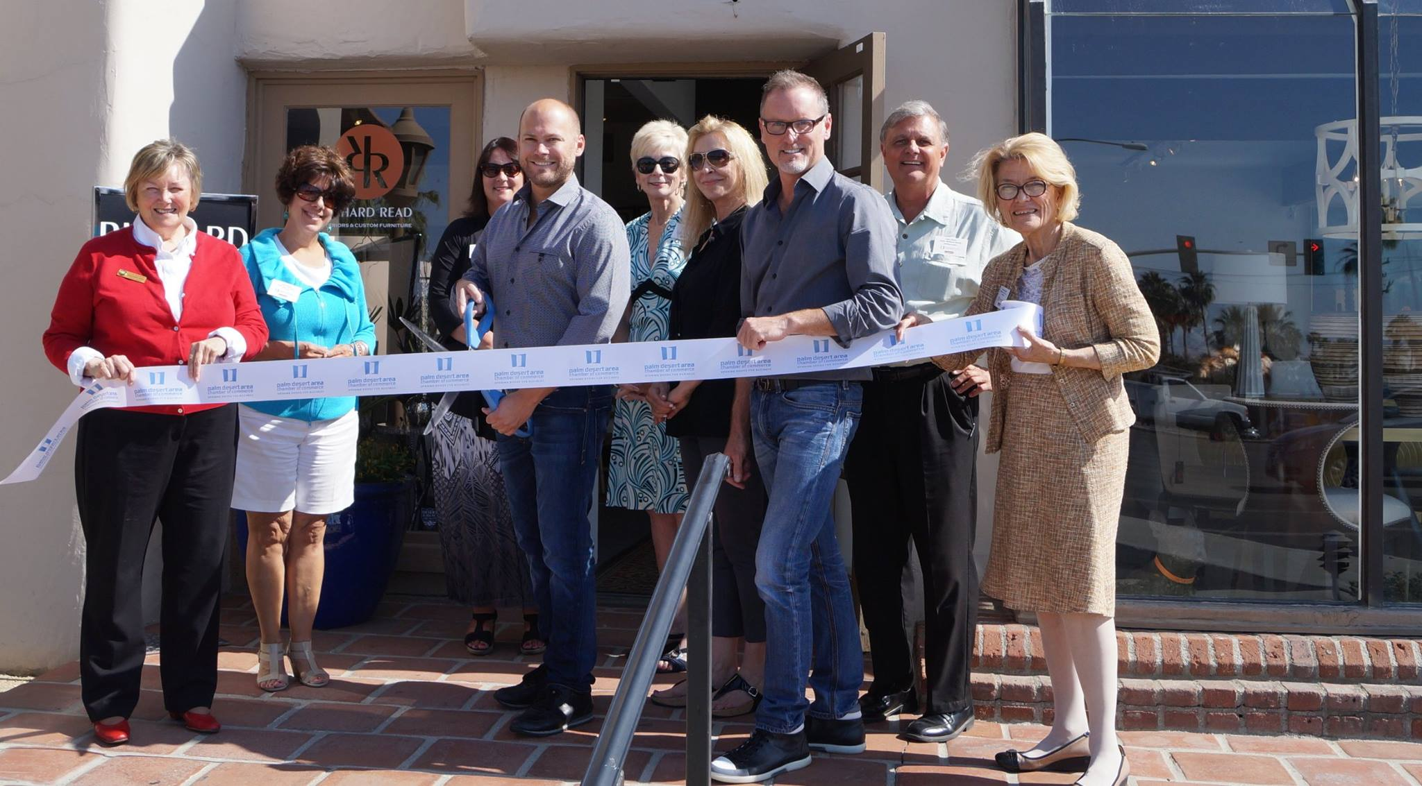 ribbon cutting showroom
